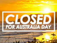 Closed for Australia Day