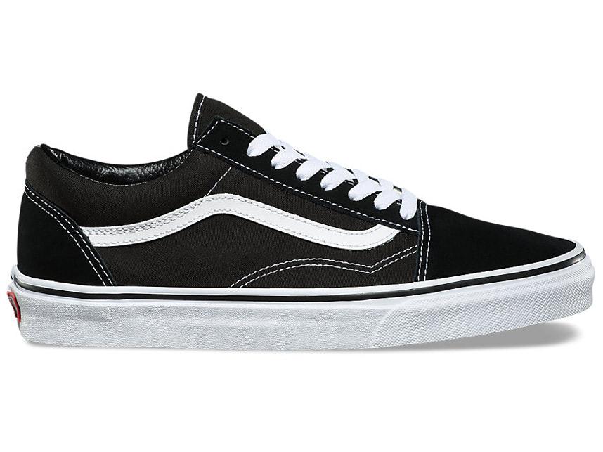 55b779b6ec8e Vans Old Skool Shoes Black White