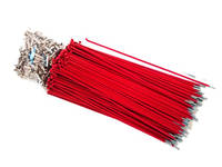 Hi-Tech Coloured Spokes (144pcs) / 184mm / Red