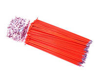 Hi-Tech Coloured Spokes (144pcs) / 187mm / Orange