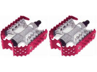 Odyssey Triple Trap Pedals / 9/16 3pc Crank / Red