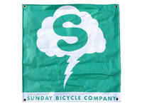 Sunday Stormcloud Banner / Toothpaste Green