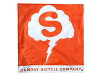 Sunday Stormcloud Banner / Orange