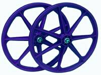 Skyway Tuff II 7 Spoke Wheels / Blue 24x1.75