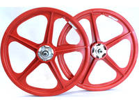 Skyway Tuff II Rivet 20 Wheelset / Red