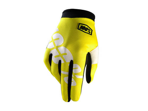 100% I-Track Glove Neon Yellow