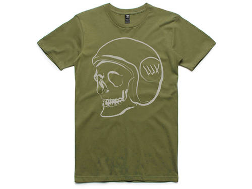 LUXBMX Skid Lid T-Shirt Fern Green