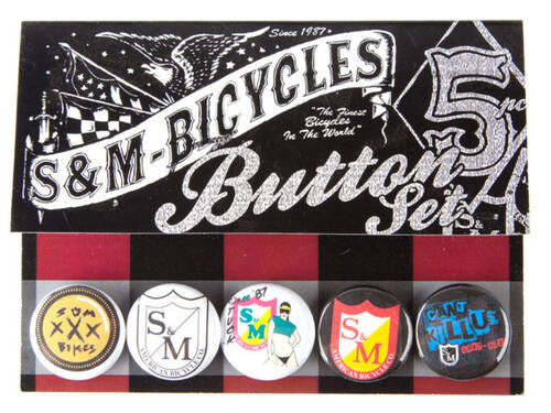 S&M 30th Year Anniversary Buttons / 5 Pack