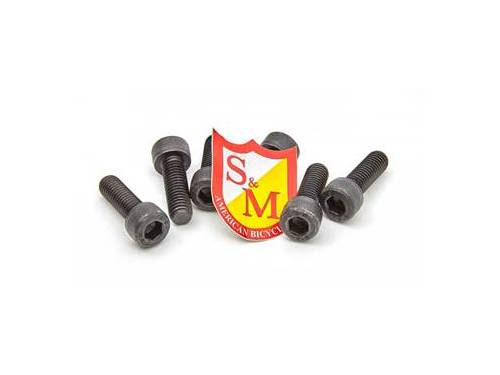 S&M Stem Replacement Bolt Set / Black