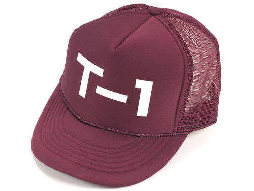 Terrible One Badge Trucker Hat / Burgundy/White