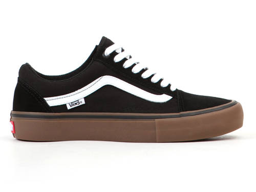 Vans Old Skool Pro Shoes Black/White/MediumGum