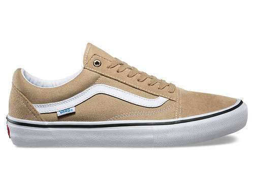 Vans Old Skool Pro Shoe Khaki/White